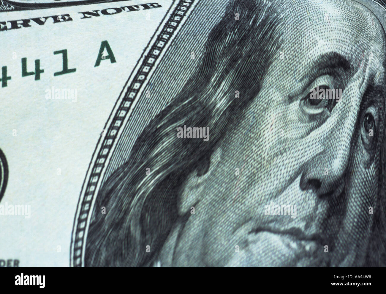 United States One Hundred Dollar Bill 100 - Stock Image