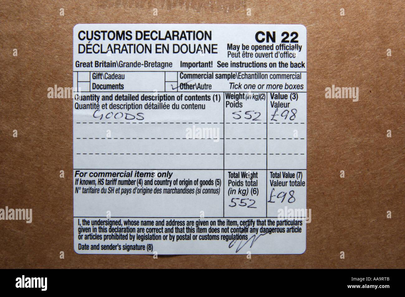 Close up of a customs declaration label on a parcel stock photo close up of a customs declaration label on a parcel altavistaventures Images