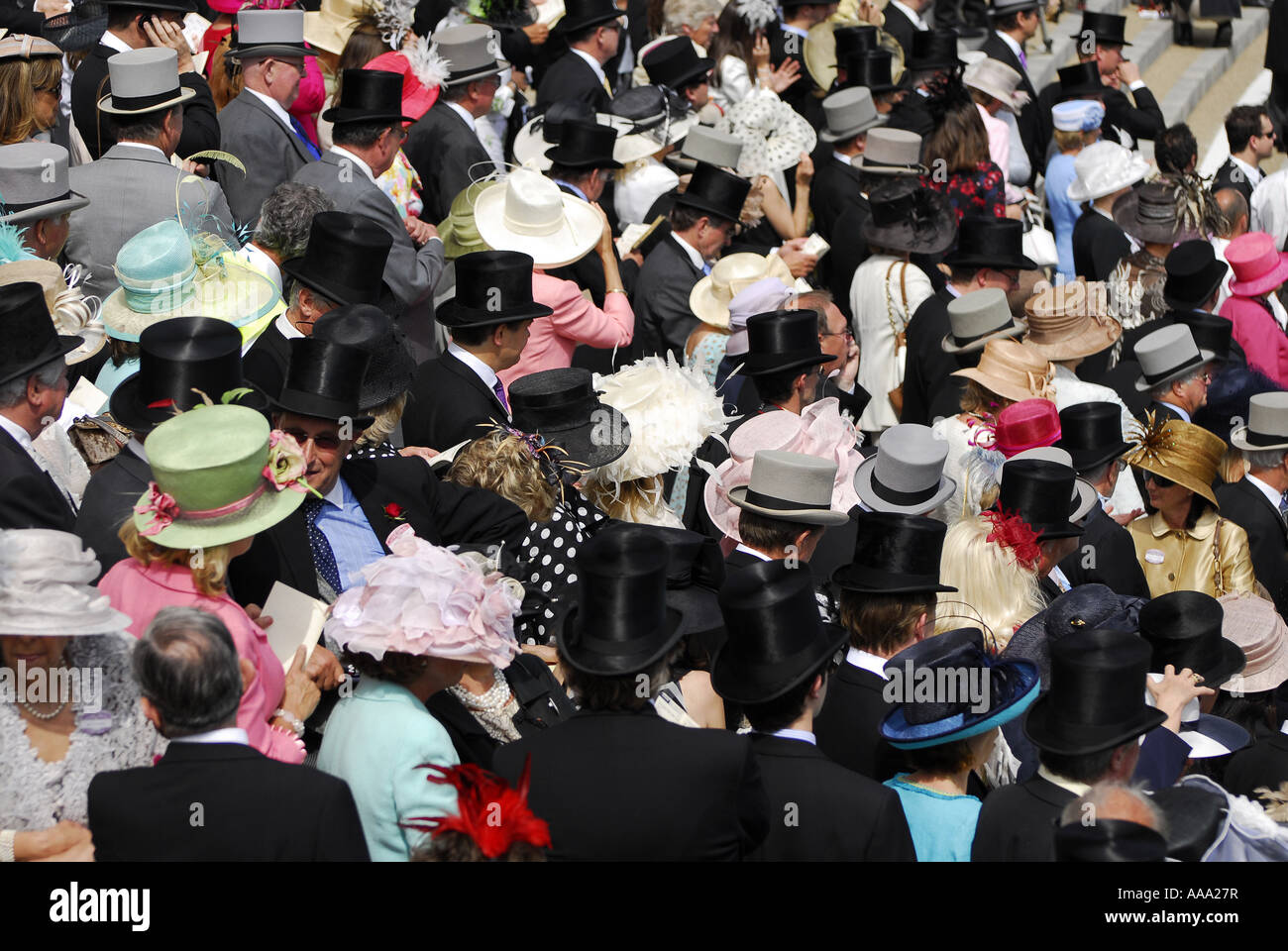spectators at royal ascot, berkshire, englandStock Photo