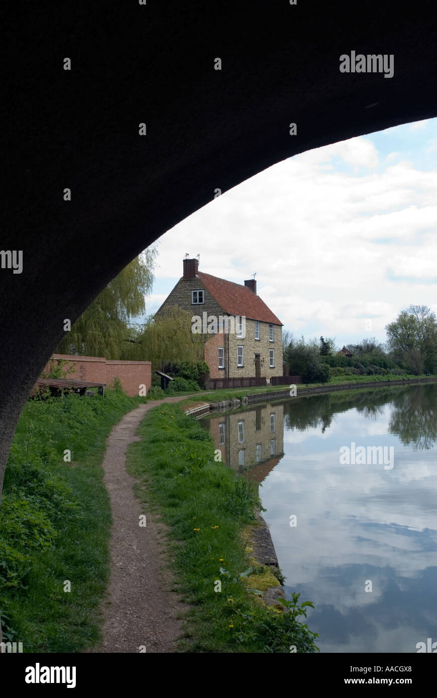 PICTURE CREDIT DOUG BLANE Grand Union canal in Milton Keynes - Stock Image