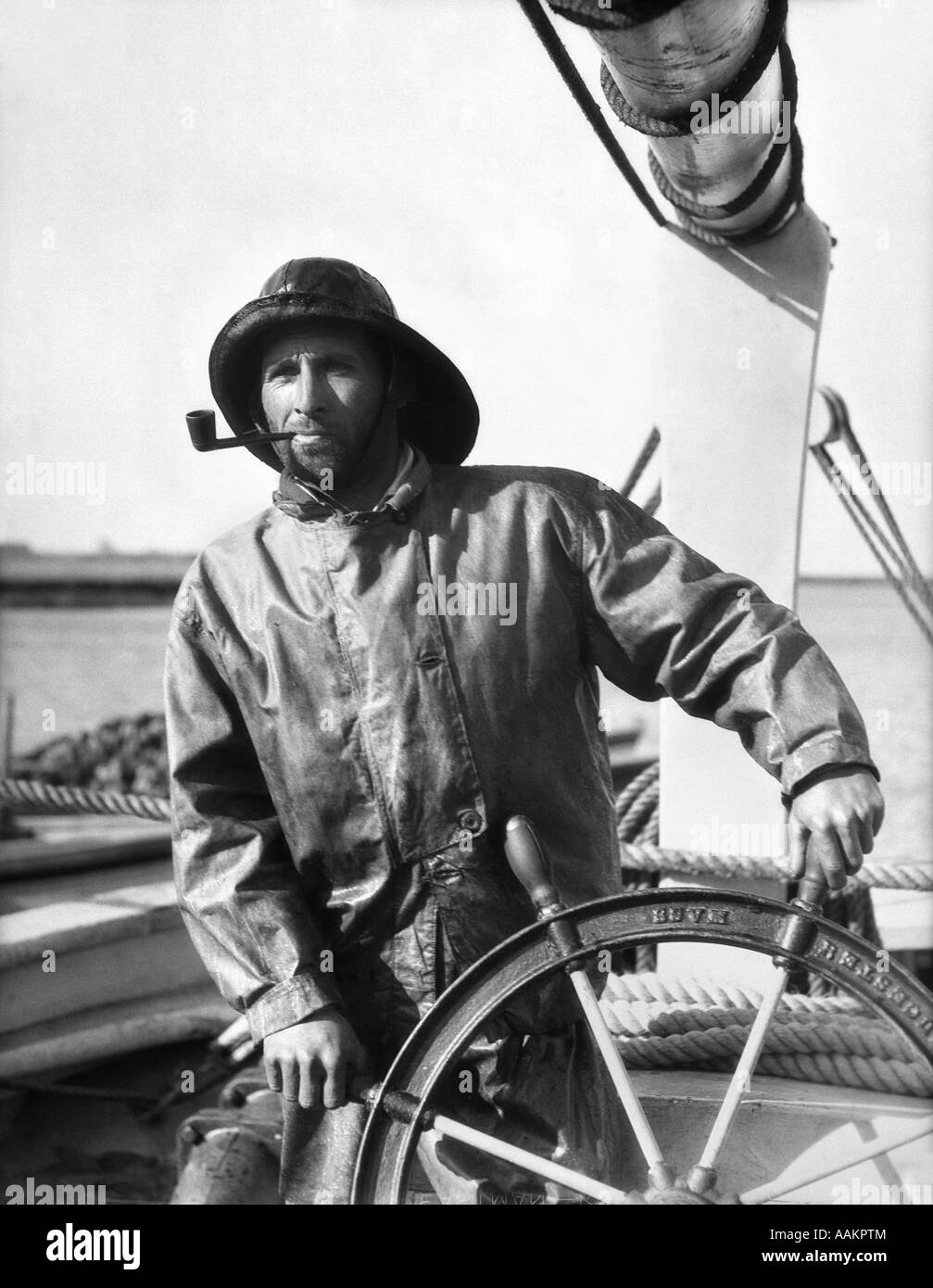 Old Fashioned Fishing Boat Captain