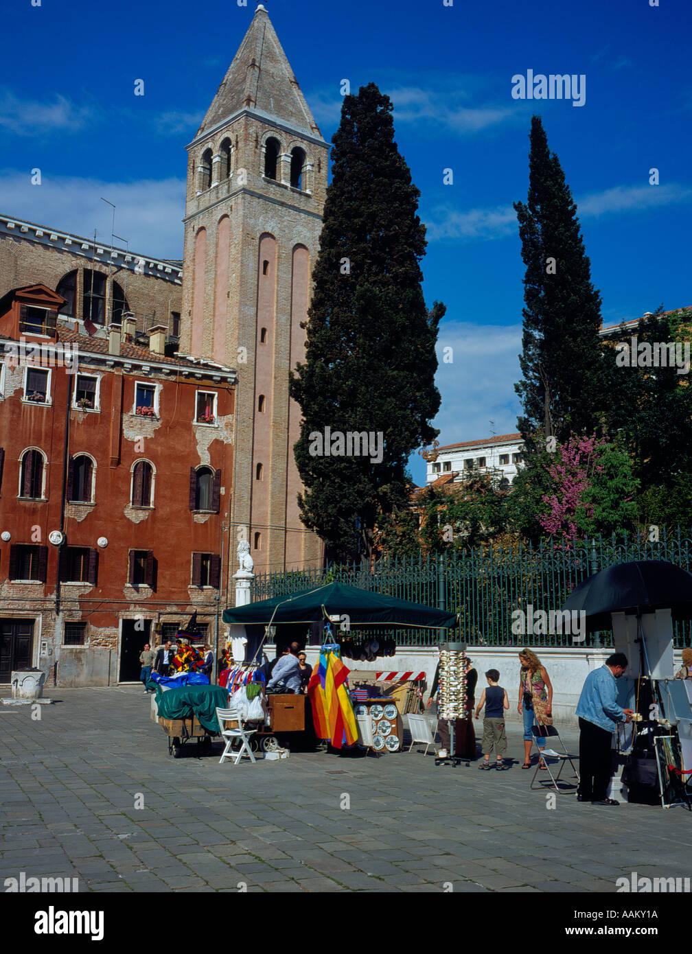 Campo Vidal, Venice, UNESCO World Heritage Site, Italy, Europe. Photo by Willy Matheisl - Stock Image