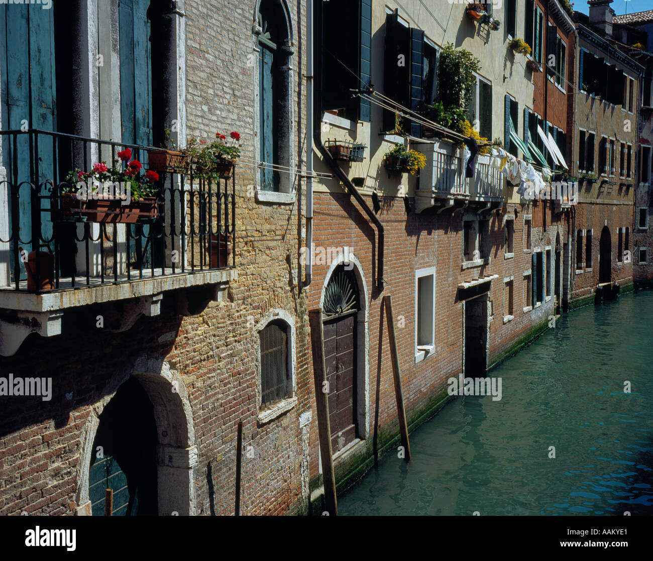Canal in Venice Italy Europe. Photo by Willy Matheisl Stock Photo