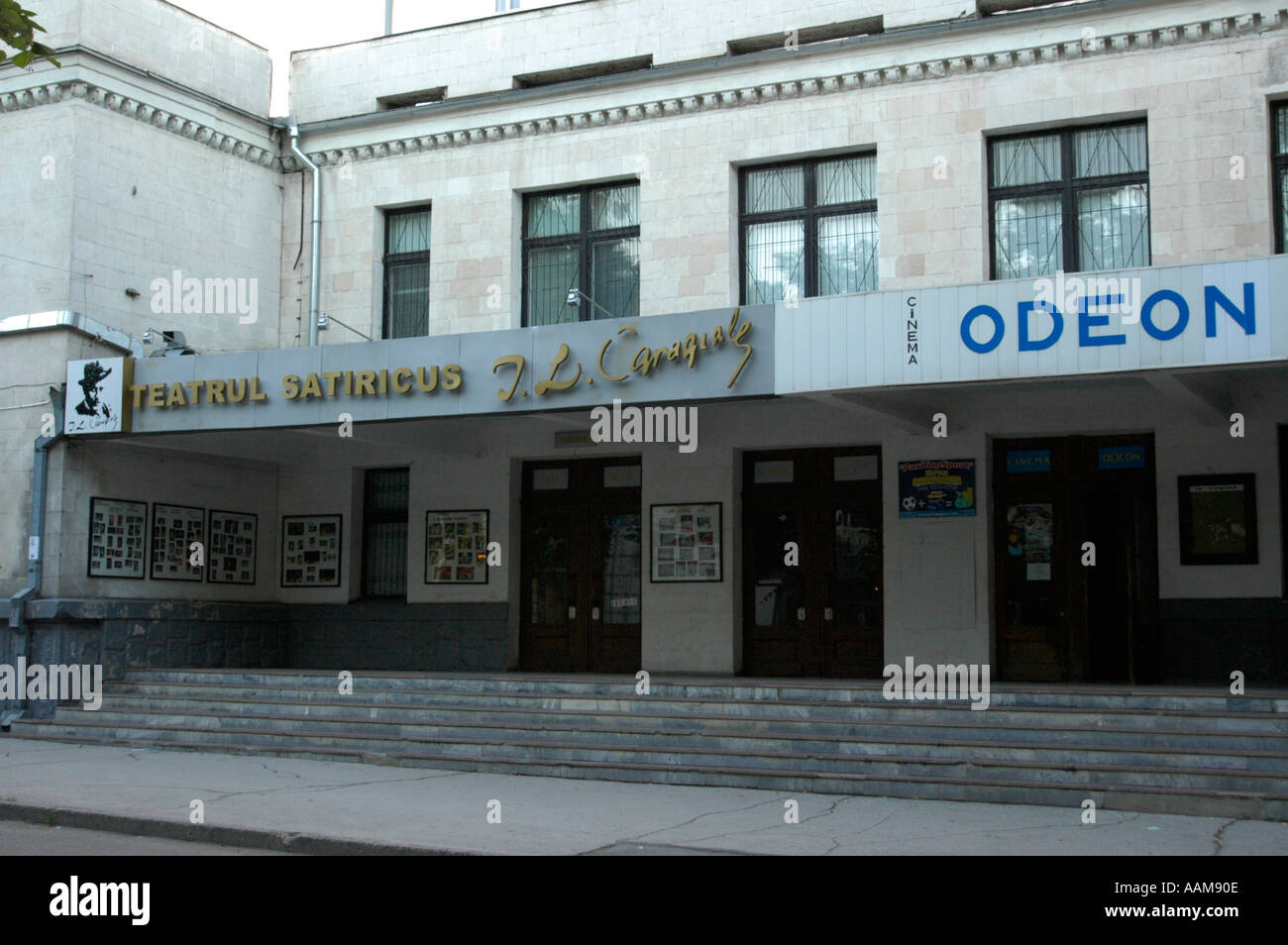 Chisinau, cinema Odeon - Stock Image