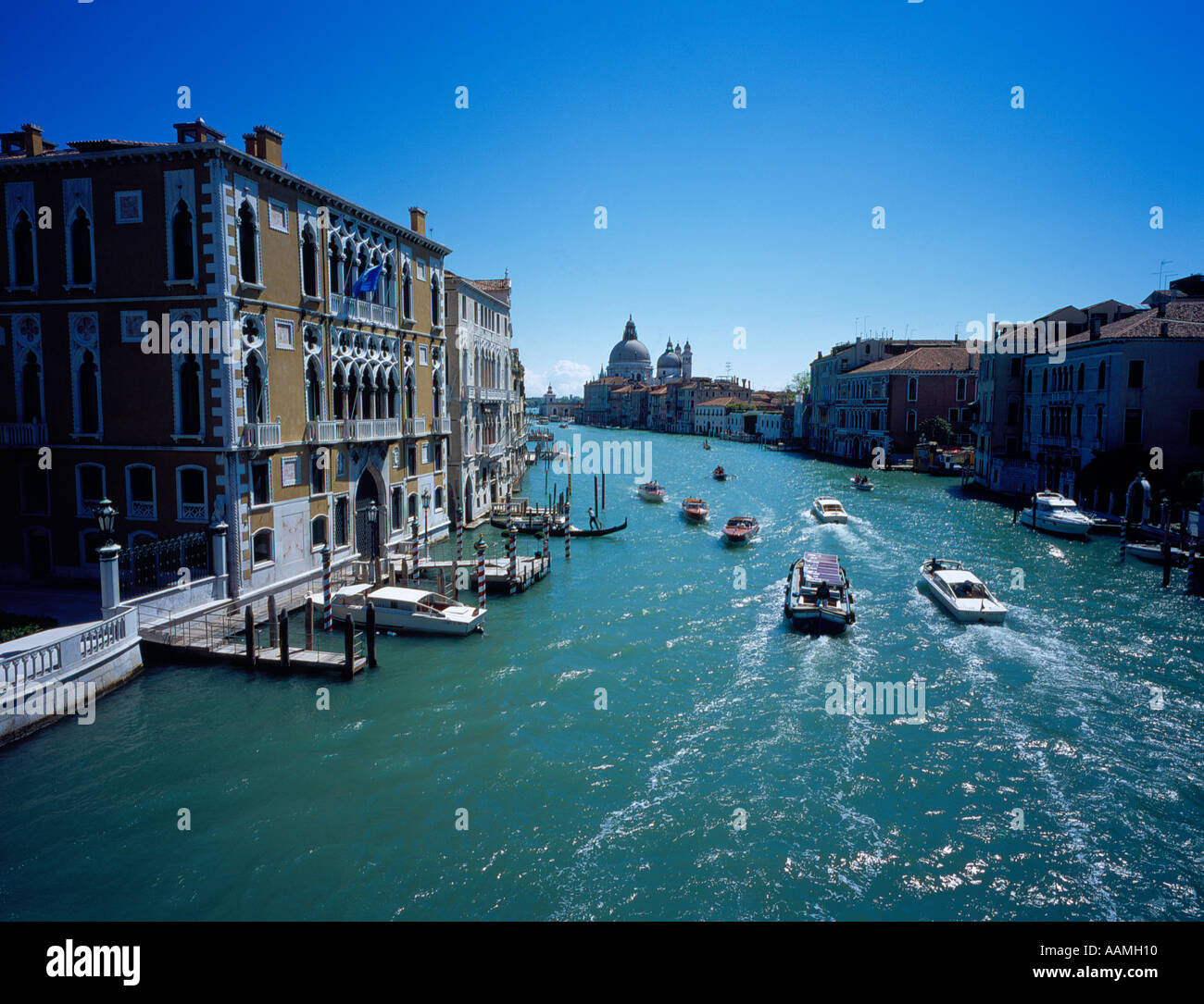 canal grande Venice Italy Europe. Photo by Willy Matheisl - Stock Image
