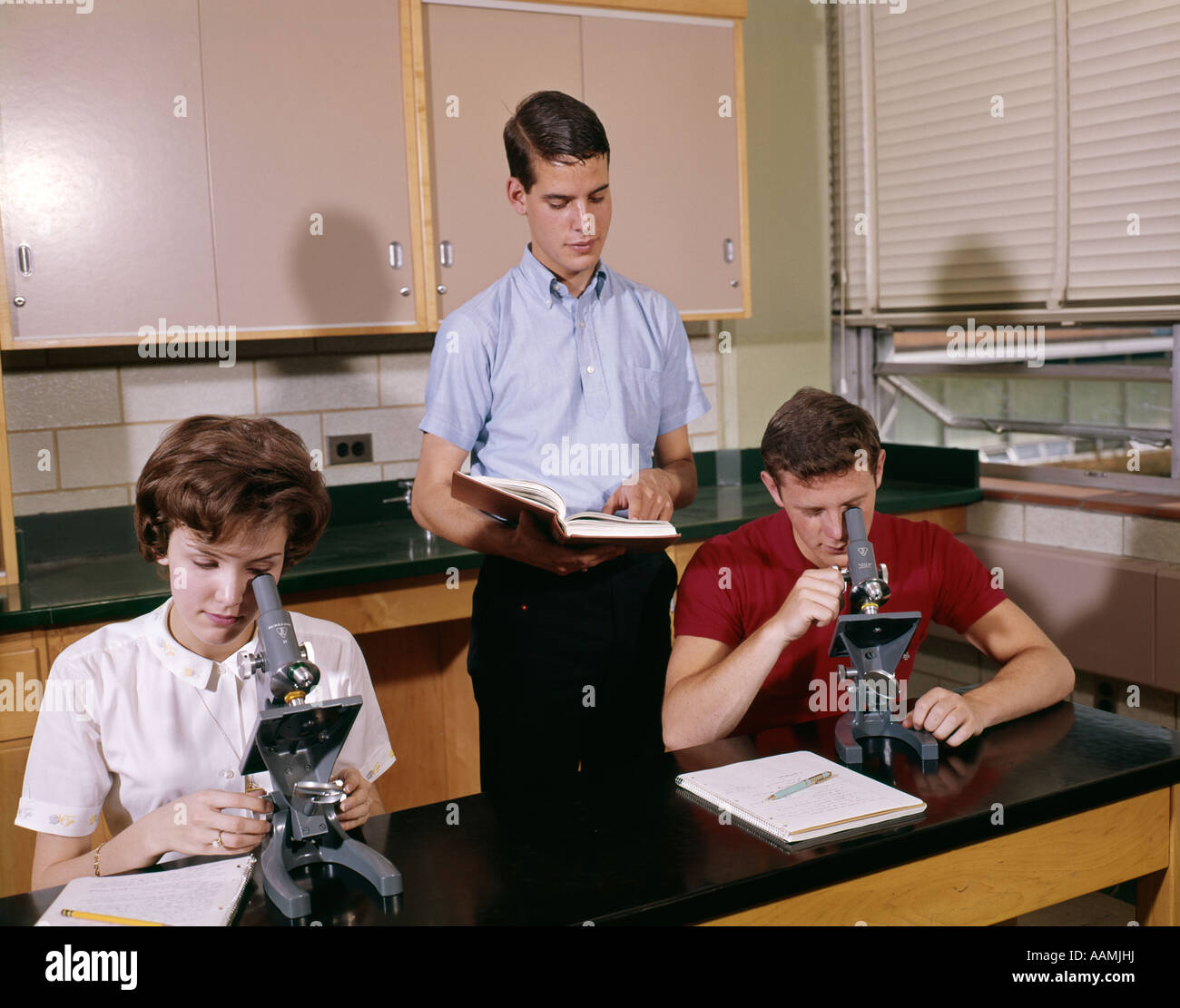 1960s 3 College High School Teen Student Students In