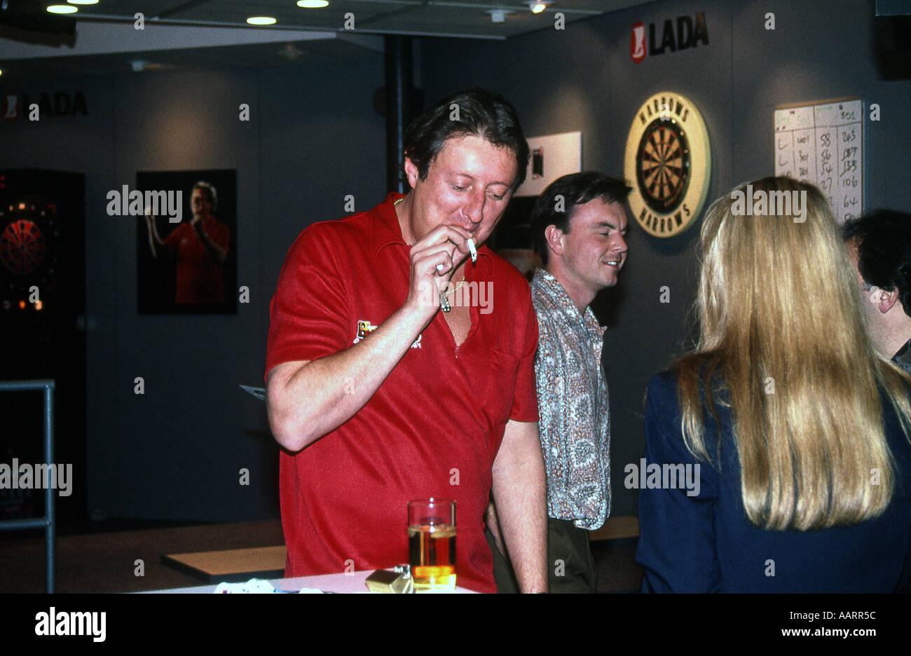 Eric Bristow ex world darts champion smoking at a ...