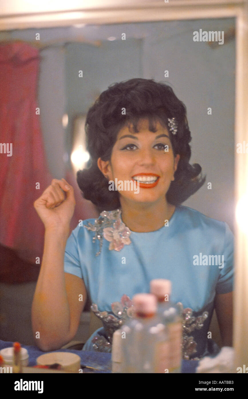 Alma Cogan singer in her dressing room at the BBC Television Theatre in late 1962 PER0052 - Stock Image