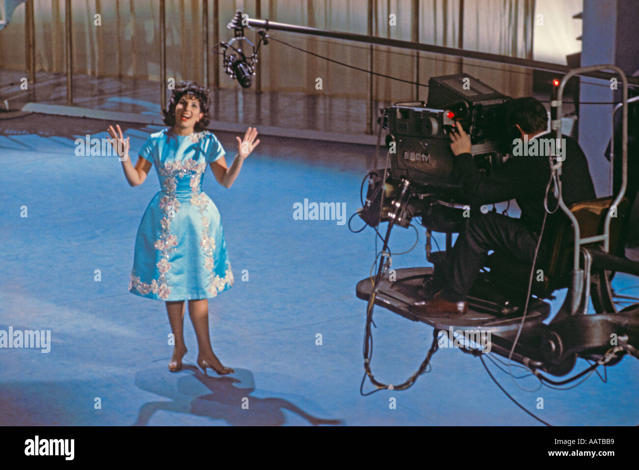 Alma Cogan singer on stage at BBC Television Theatre in late 1962 PER0053 - Stock Image