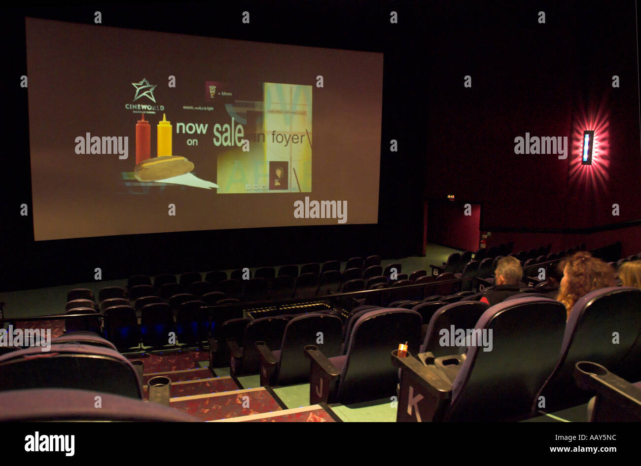 europe uk england cinema auditorium - Stock Image