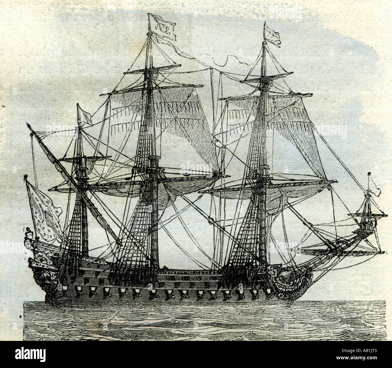 Ship Le Soleil Royal United Kingdom Stock Photo