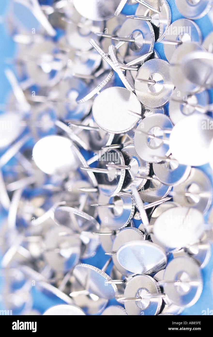 Drawing pins Stock Photo