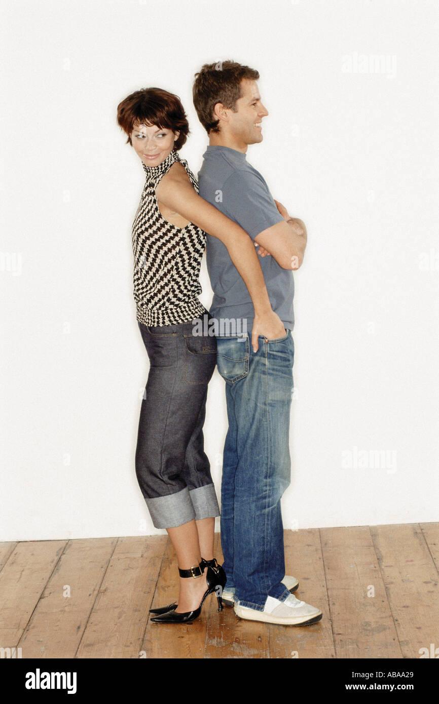 Trendy couple - Stock Image