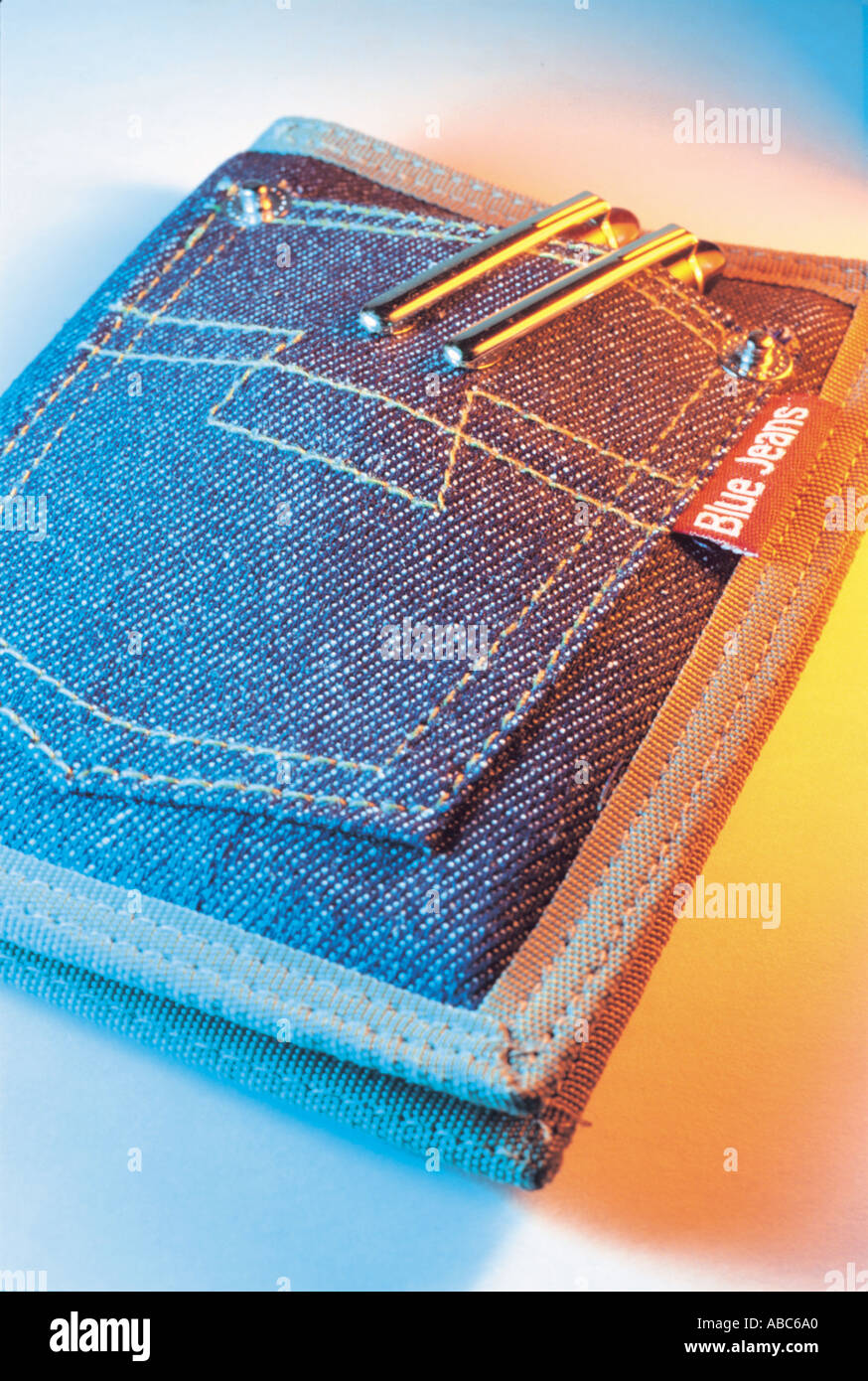 Denim Wallet - Stock Image