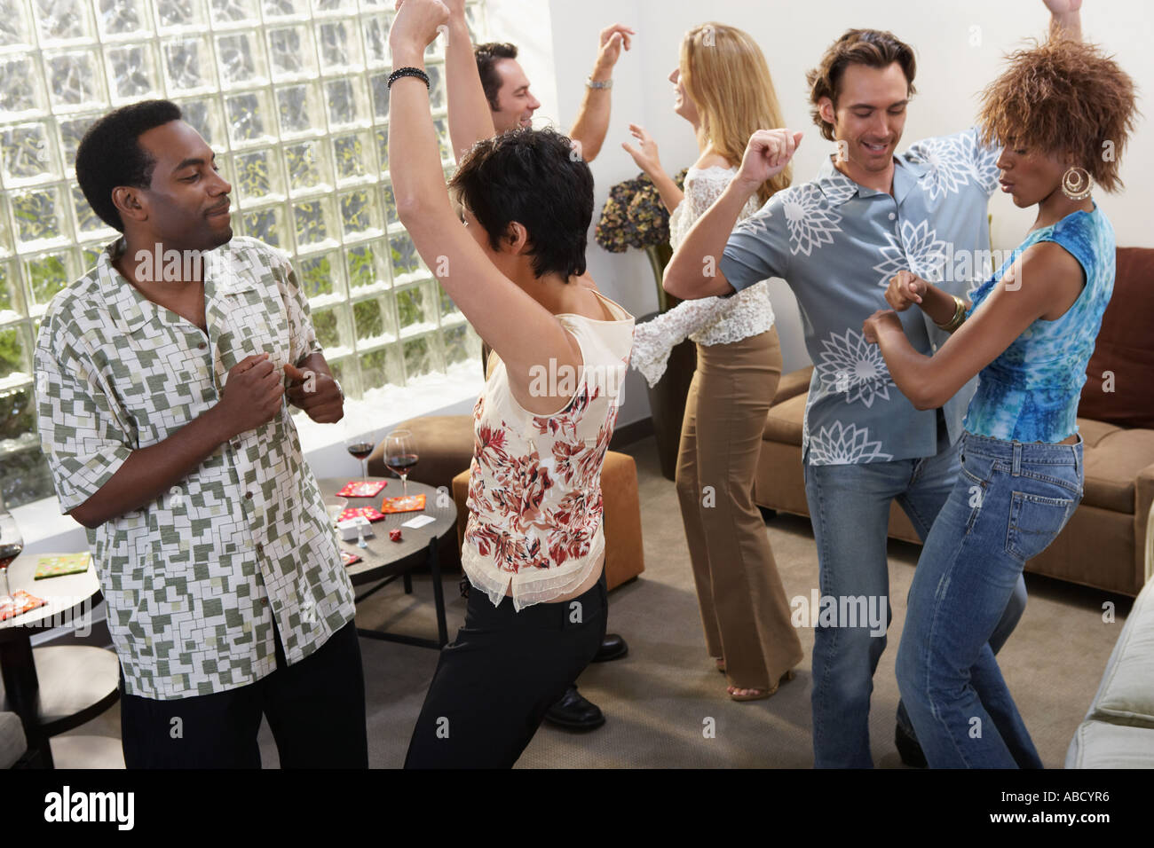 People Dancing At A House Party