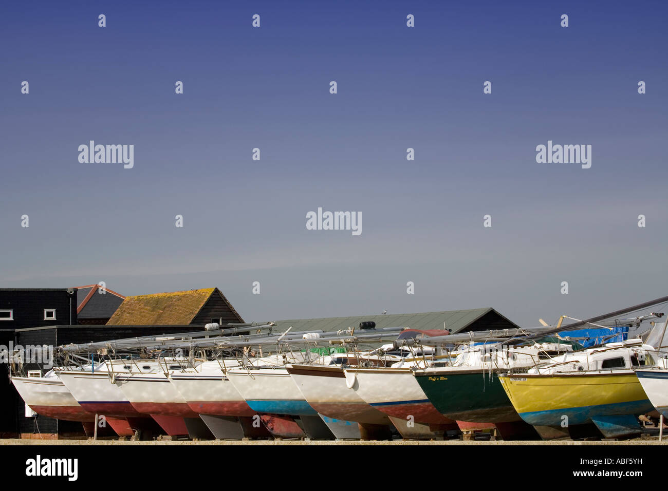 Boats at Dell Quay, Chichester Harbour, Sussex - Stock Image