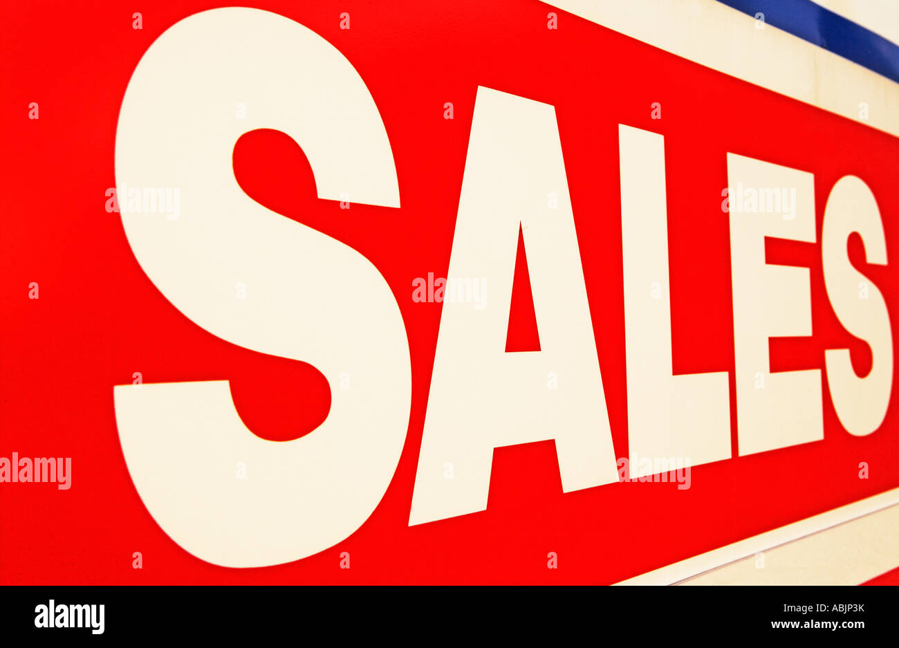 Close up of Sales sign - Stock Image