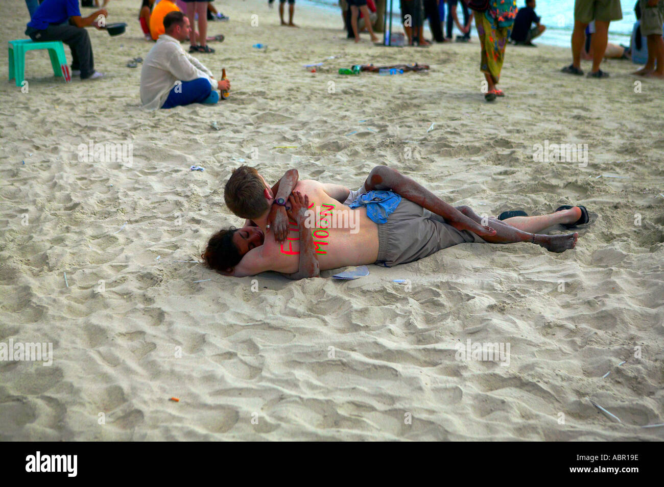 Full Moon Party Koh Phangan Thailand Stock Photo