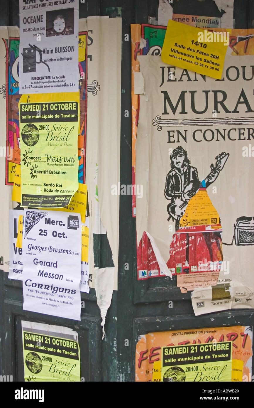 French advertising hoarding - Stock Image
