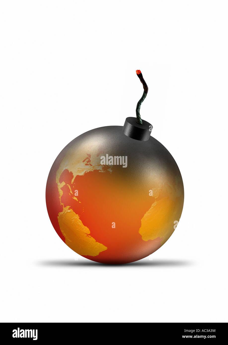 bomb Bombe - Stock Image
