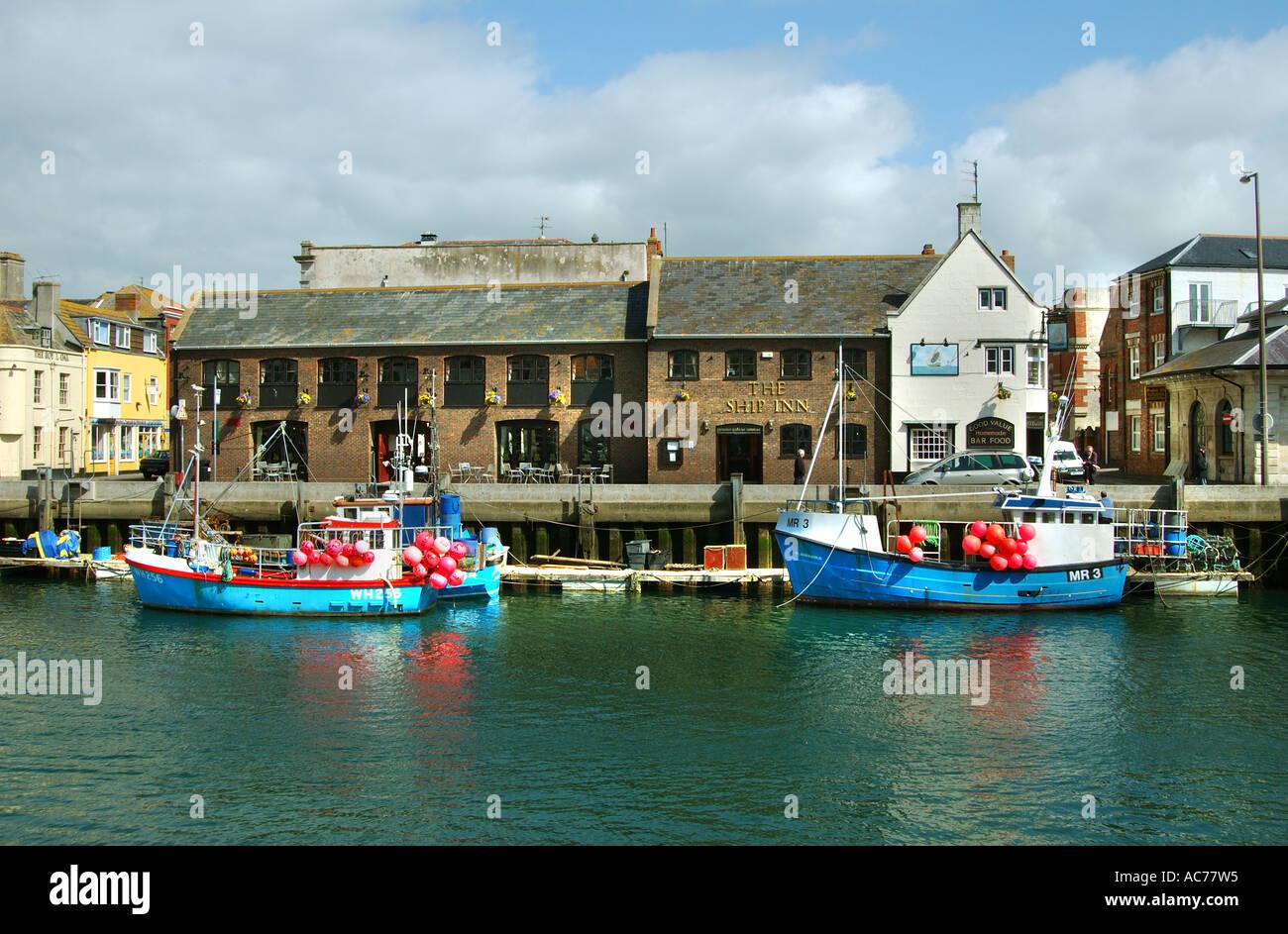 Weymouth Harbour Dorset - Stock Image