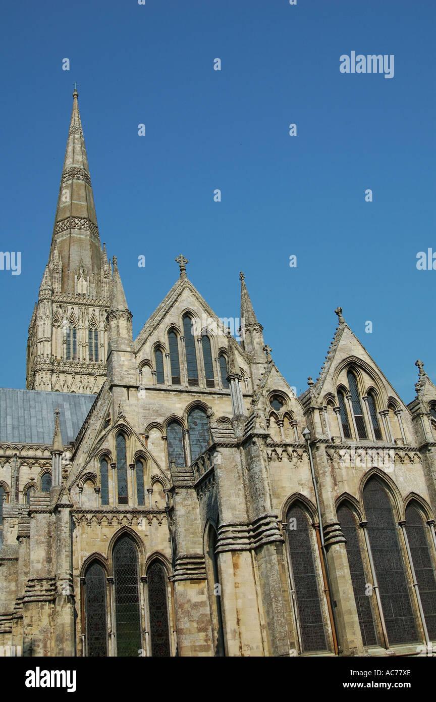 Salisbury Cathedral Wiltshire - Stock Image