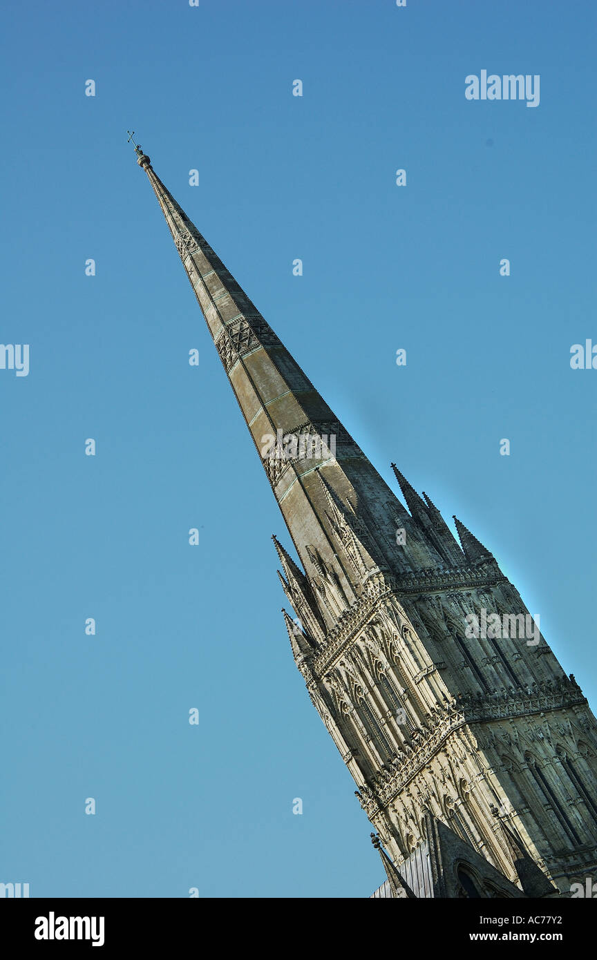 Salisbury Cathedral Spire - Stock Image