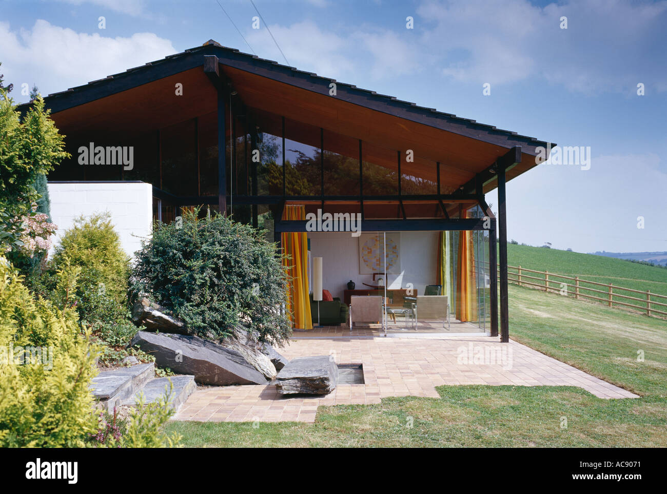 Anderton House, Goodleigh near Barnstaple, Devon. Listed. Exterior. Architect: Aldington and Craig Stock Photo