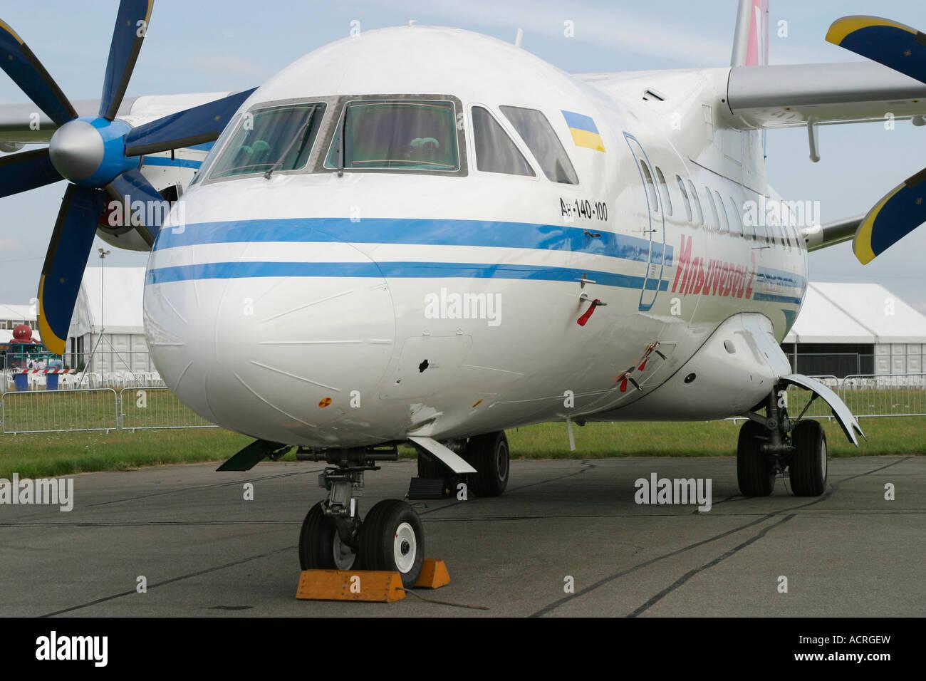 Short range turboprop airliner Antonov An-140 - Stock Image