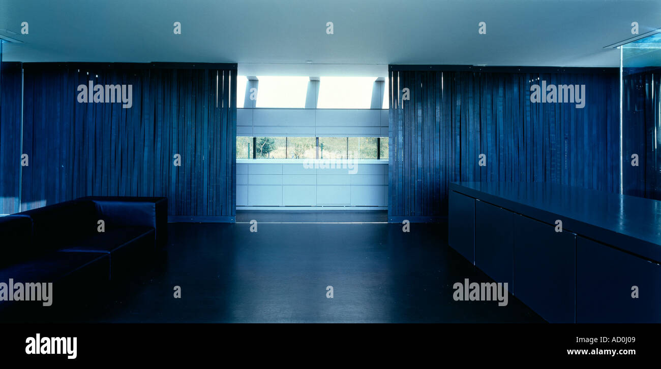 M-Lidia House, Montagut, Girona, 2000 - 2002. Kitchen and living ...