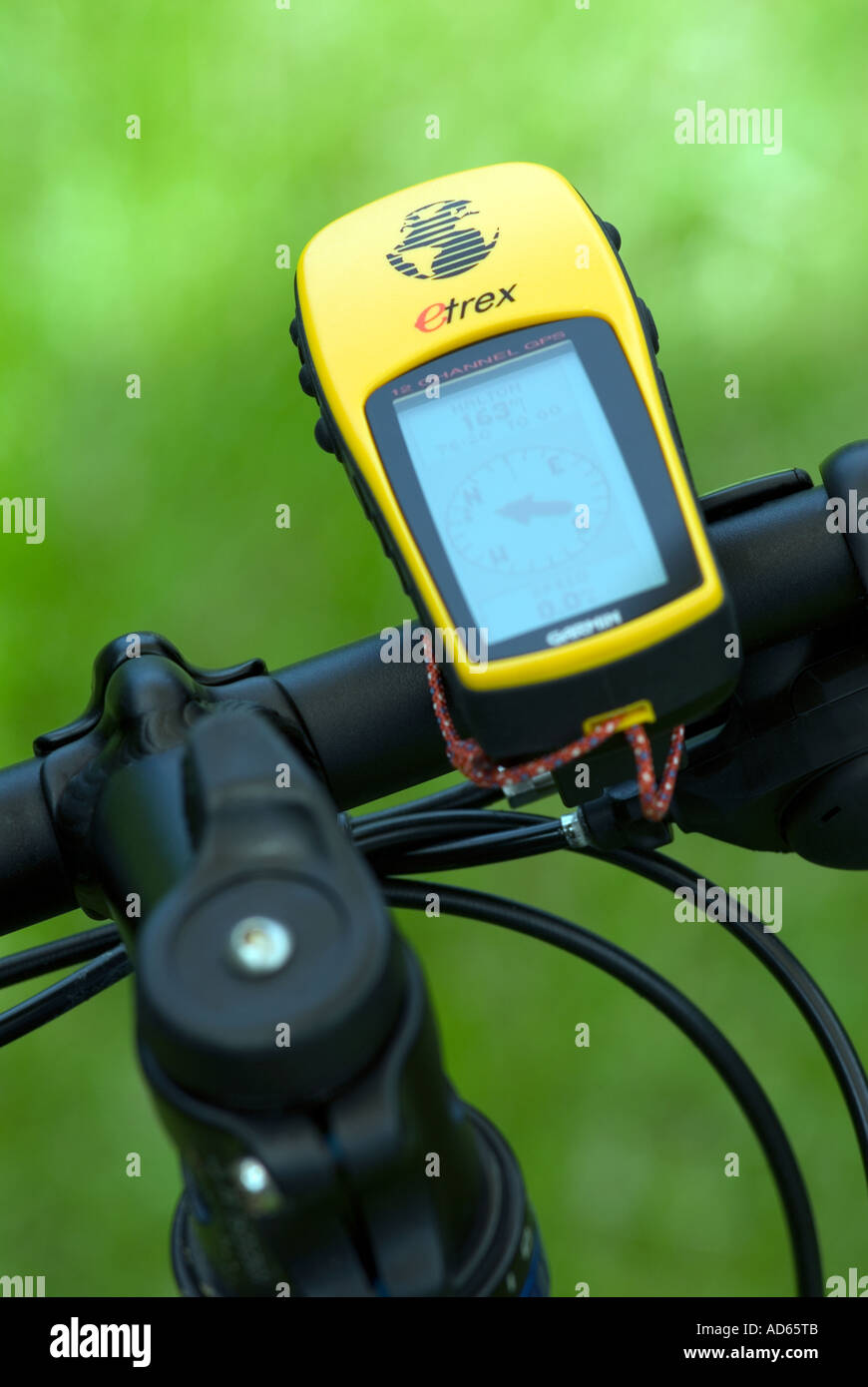 PICTURE CREDIT DOUG BLANE GPS Mountain Biking at the bike park Brickhill Woods Wobrn Sands - Stock Image