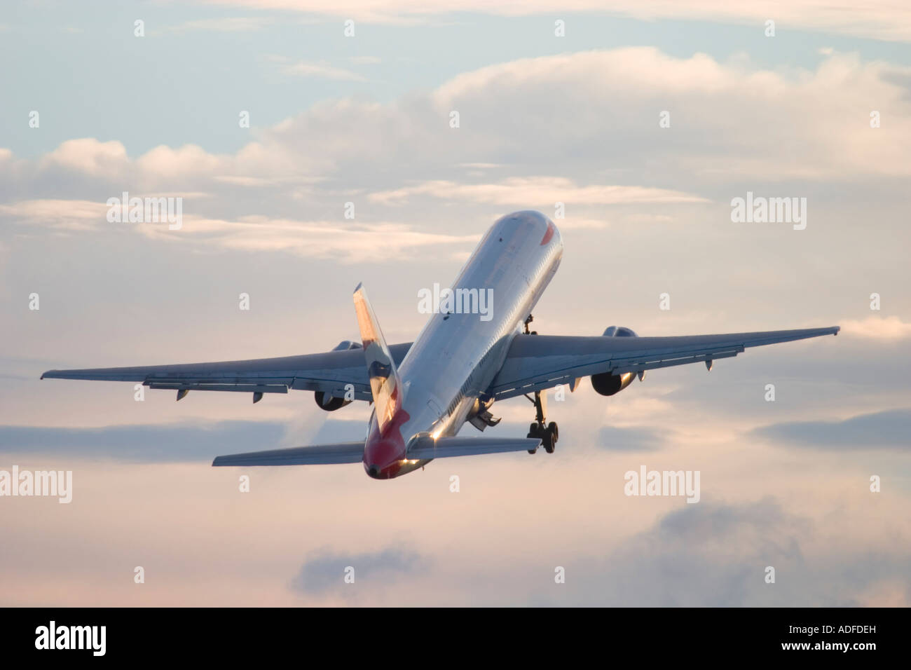 British Airways Boeing 757 just after take off from London Heathrow Airport England UK - Stock Image