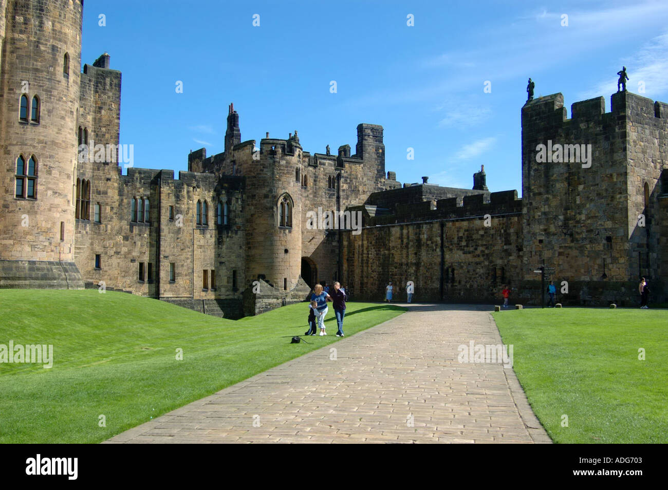 aldwick castle set of harry potter - Stock Image