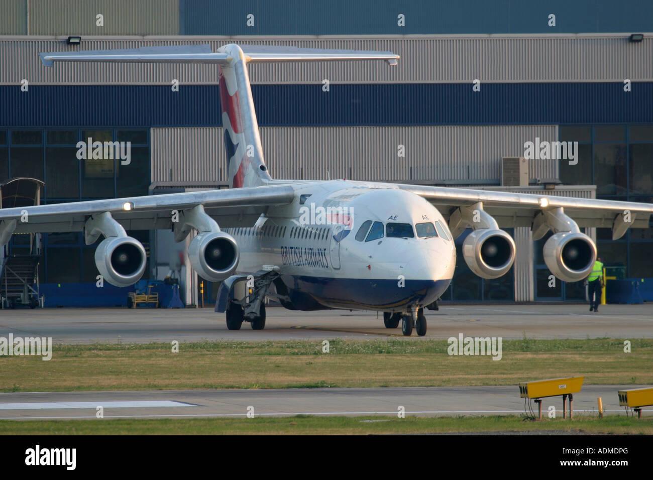 British Airways BAE Systems Avro 146 RJ100 - Stock Image