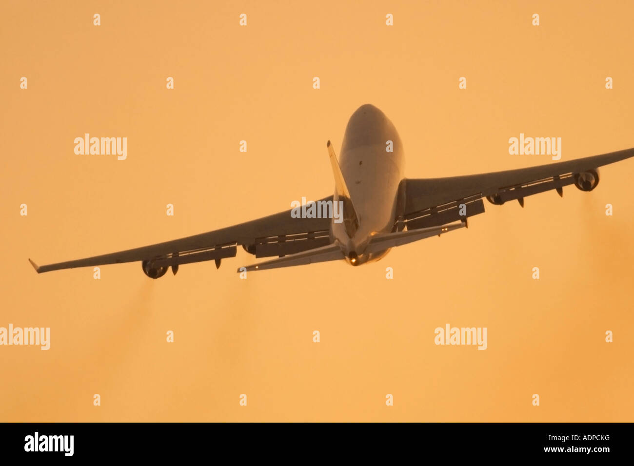 Cargo freight aircraft in flight - Stock Image