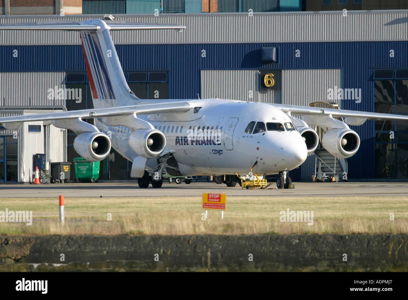 Air France (CityJet) British Aerospace BAe-146-200A - Stock Image