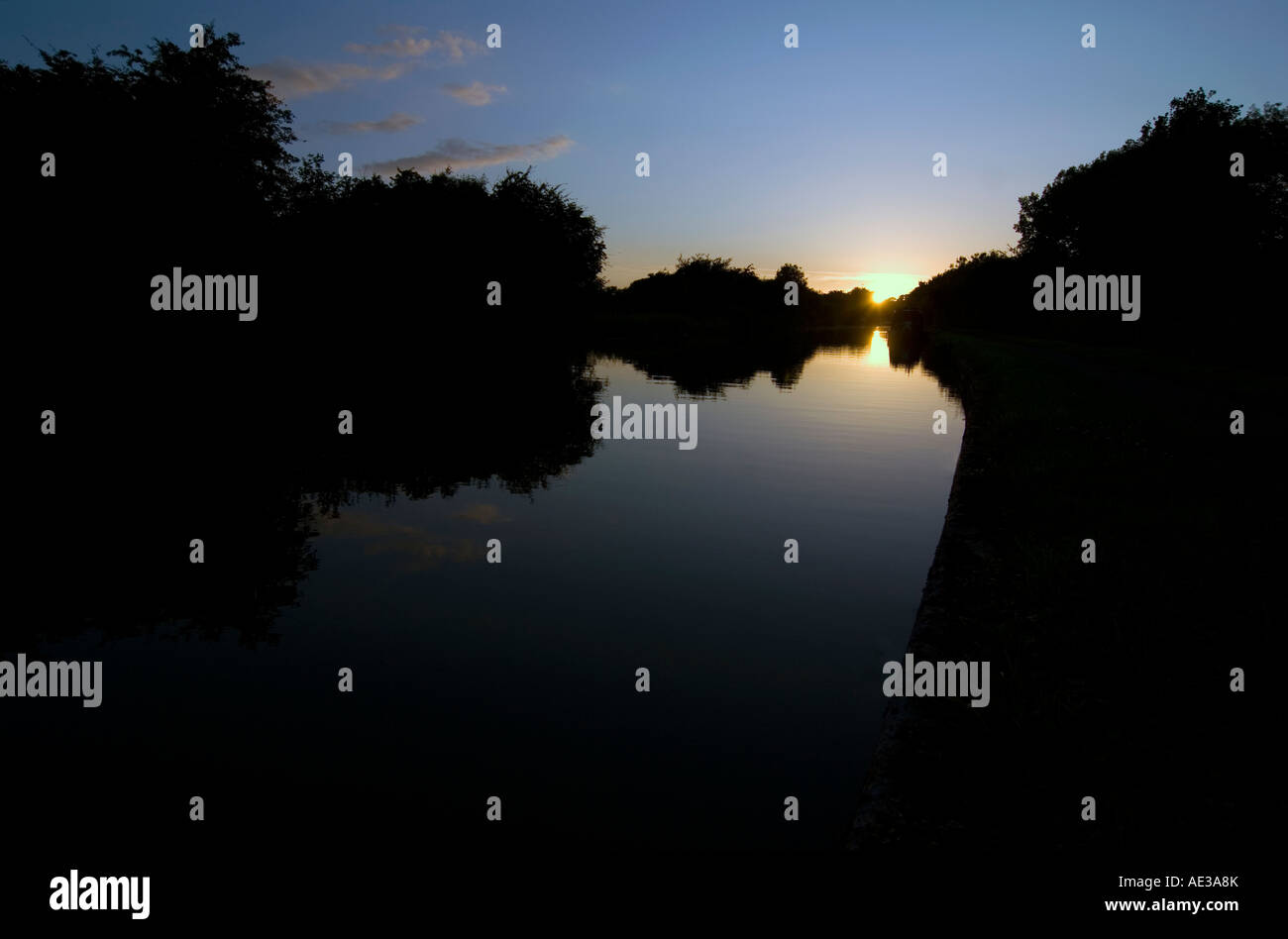 Doug Blane Narrowboat on the canal - Stock Image