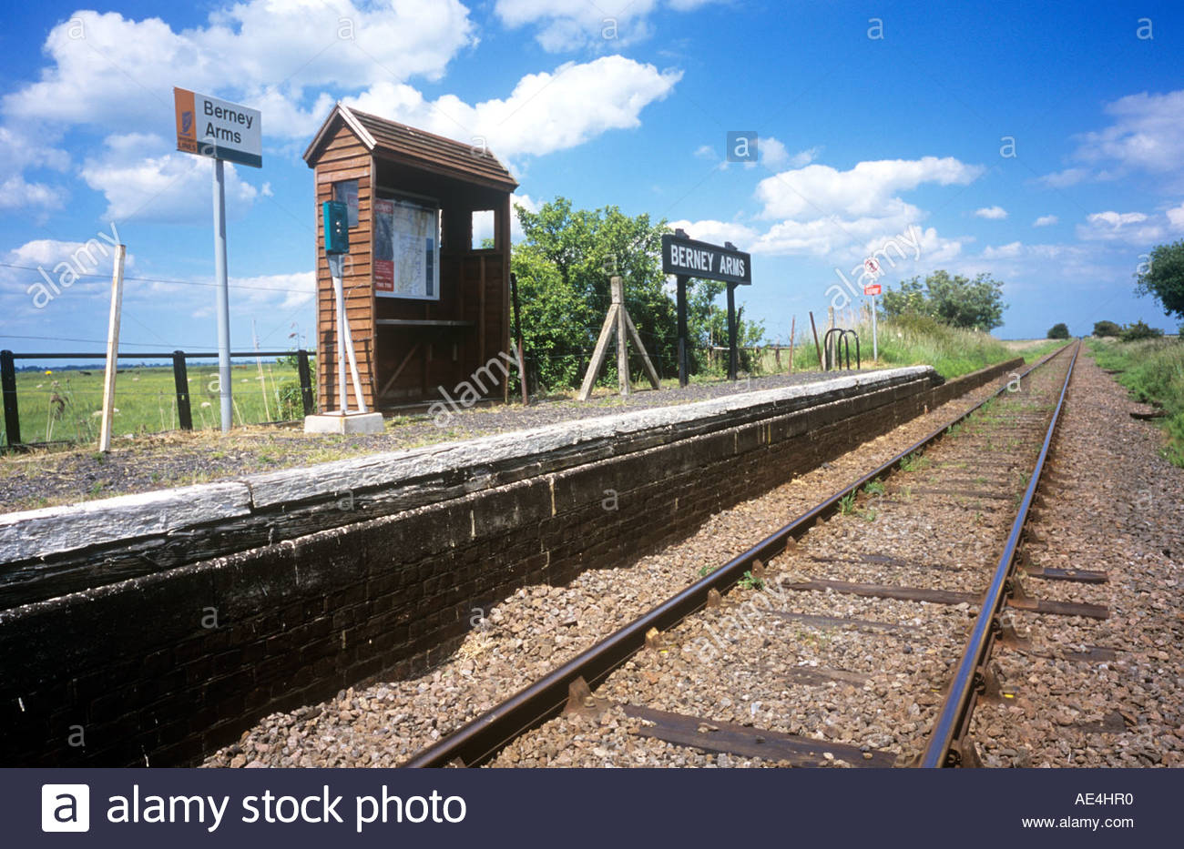 Berney Arms railway station in Norfolk, UK . June 2006 Stock Photo