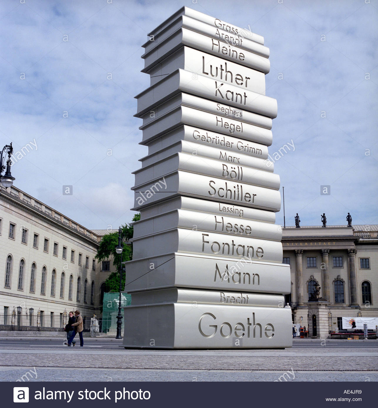 The sculpture of Modern Book Printing in Berlin . June 2006 Stock Photo