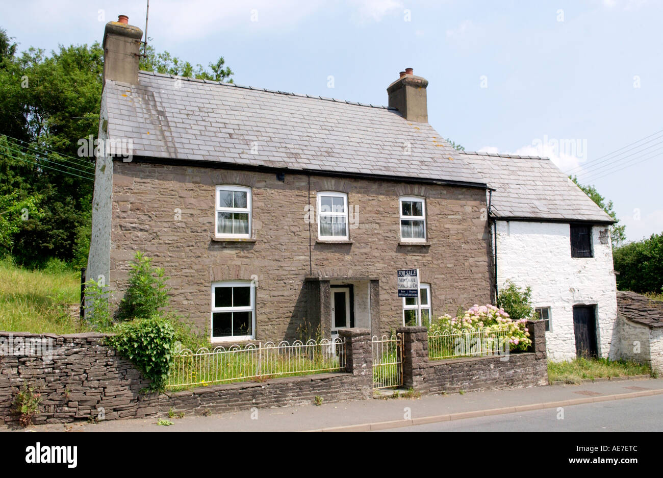 stone cottage with upvc windows and attached animal house for sale at bwlch powys south wales uk gb eu - Home Windows For Sale