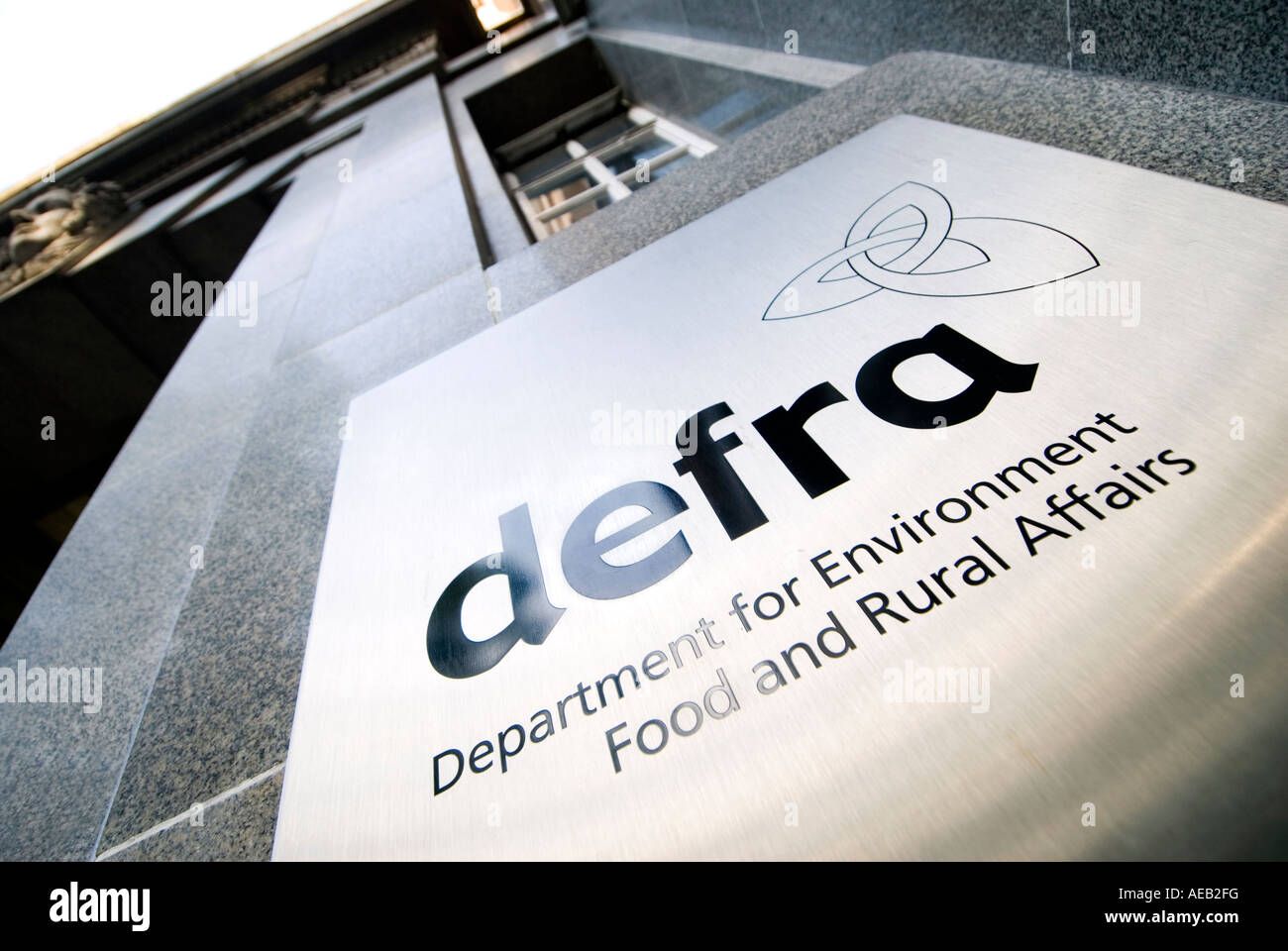 Sign at the headquarters for DEFRA Department for Environment Food and Rural Affairs London UK - Stock Image