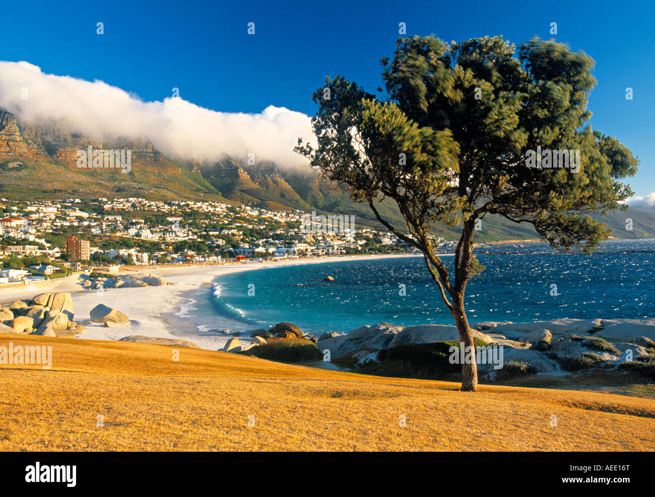 Clifton Bay and beach, Cape Town, South Africa - Stock Image