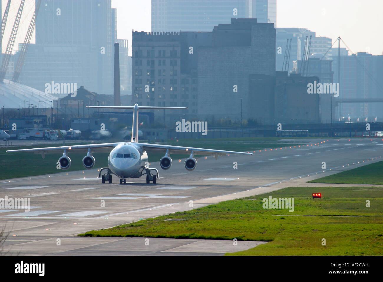Regional plane jet on runway - Stock Image