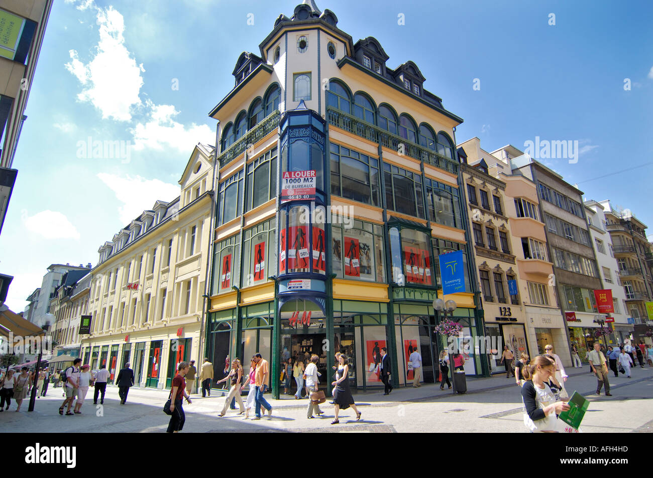 Luxembourg city lefthandside the grand rue stock photo 7969820 alamy luxembourg city lefthandside the grand rue thecheapjerseys Images
