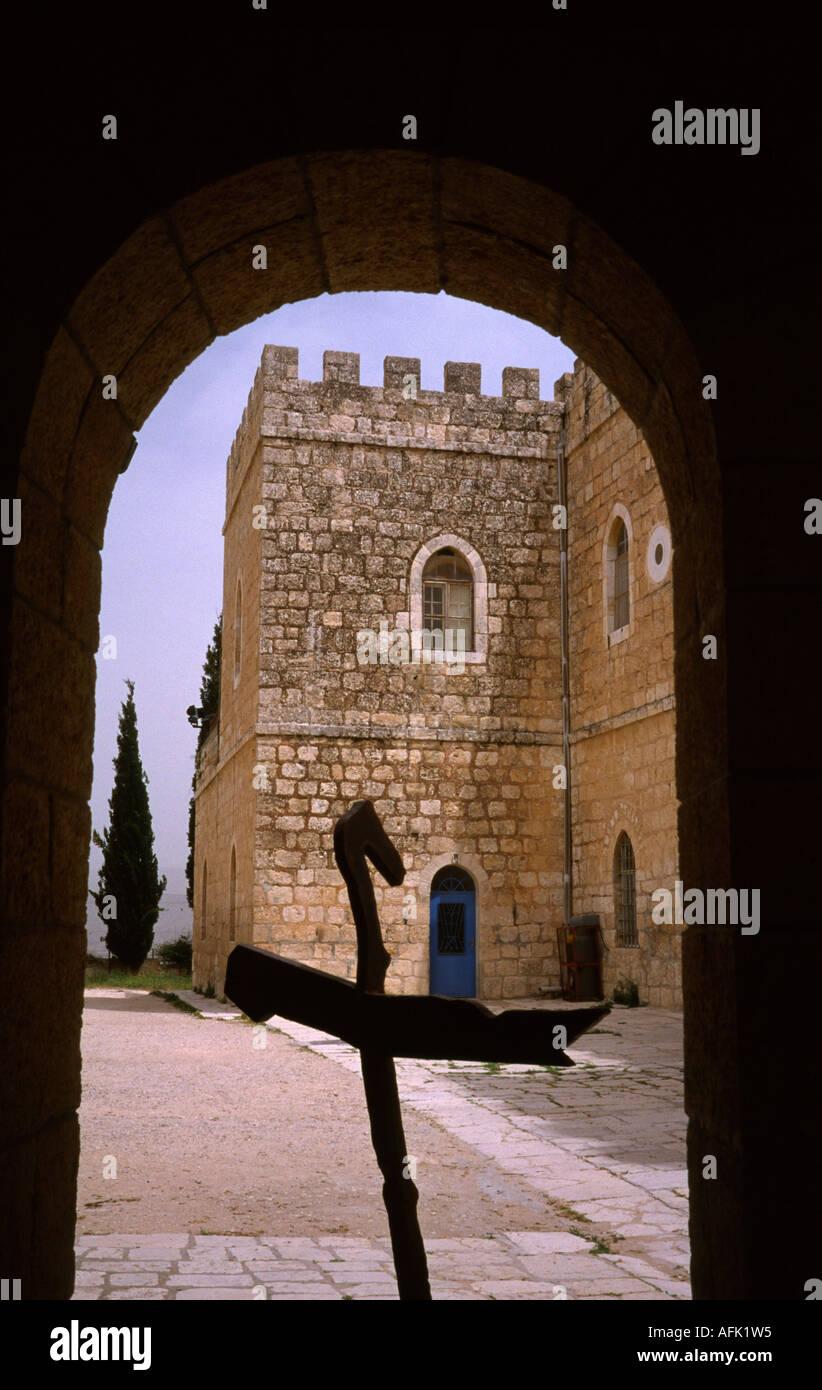 Beit Jimal ( Bet Gamal ) monastery near Bet Shemesh in Israel - Stock Image