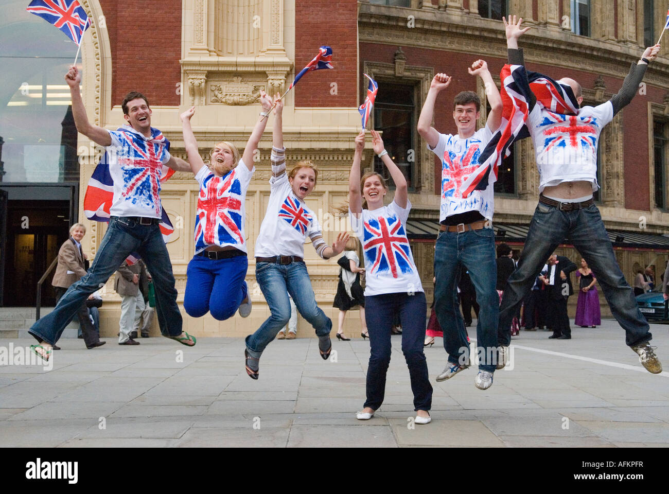 The Last Night of the Proms The Royal Albert Hall South Kensington London UK The Henry Wood Promenade Concerts HOMER - Stock Image
