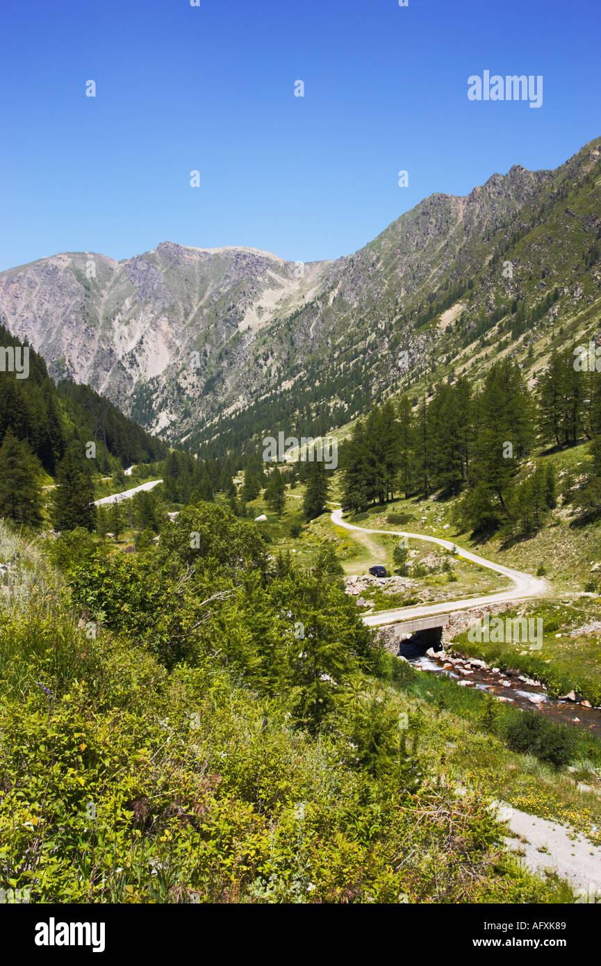 Road to Isola 2000, Mercantour National Park, Alpes Maritimes, Provence, Cote D Azur, France, Europe - Stock Image