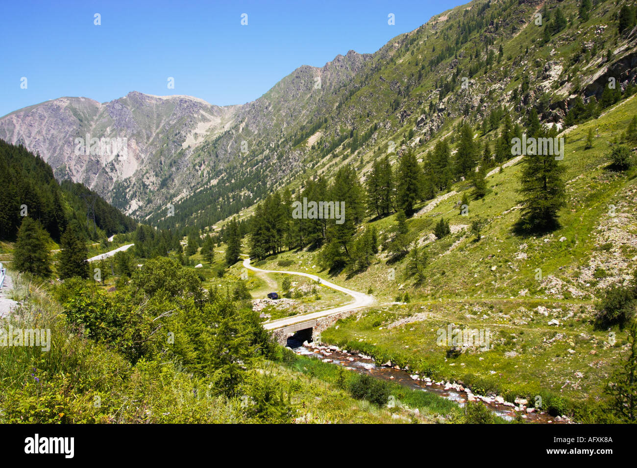 Mercantour National Park, Alpes Maritimes, France - the road to Isola 2000 - Stock Image