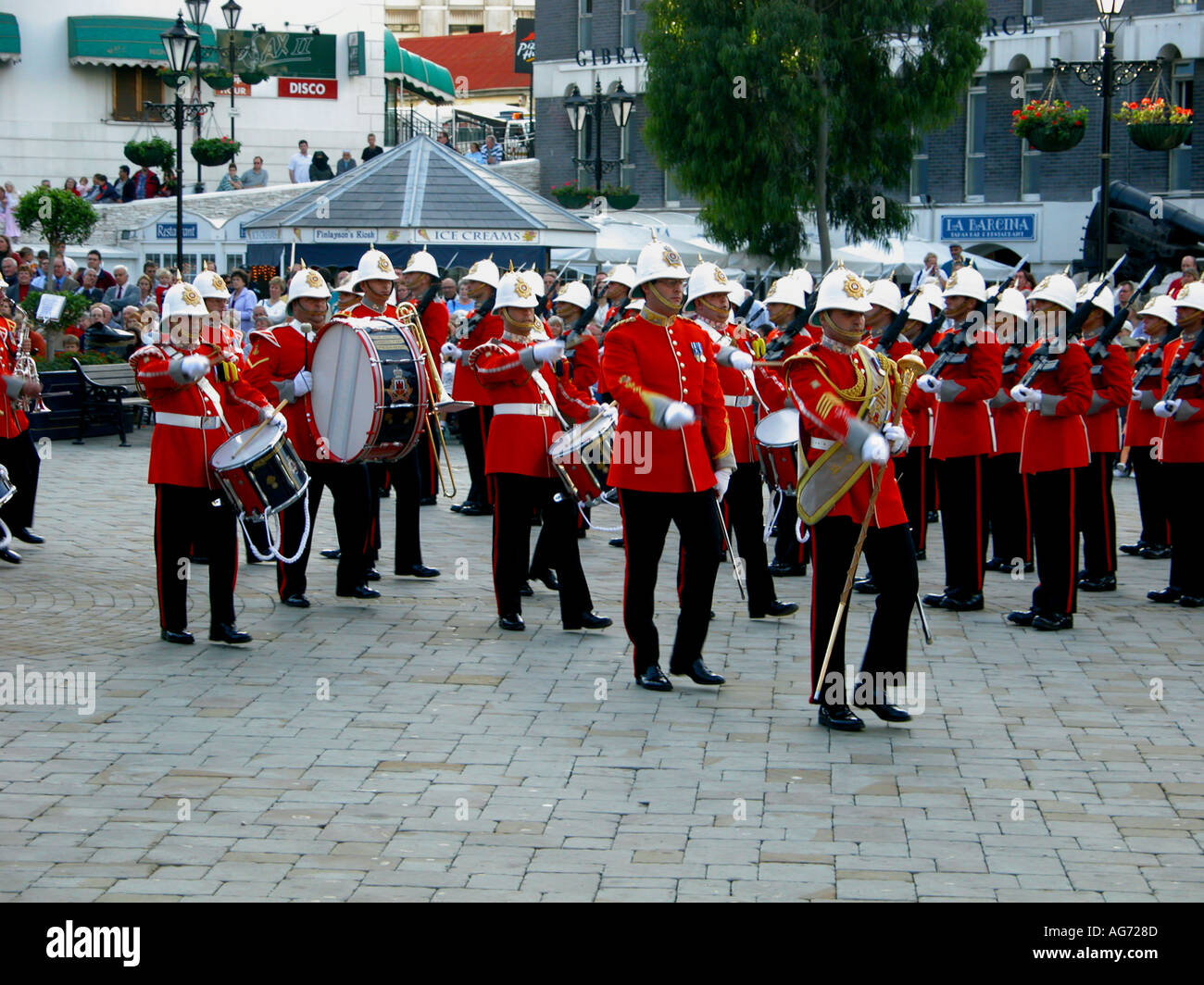 The Ceremony Of The Keys, Gibraltar, Europe - Stock Image
