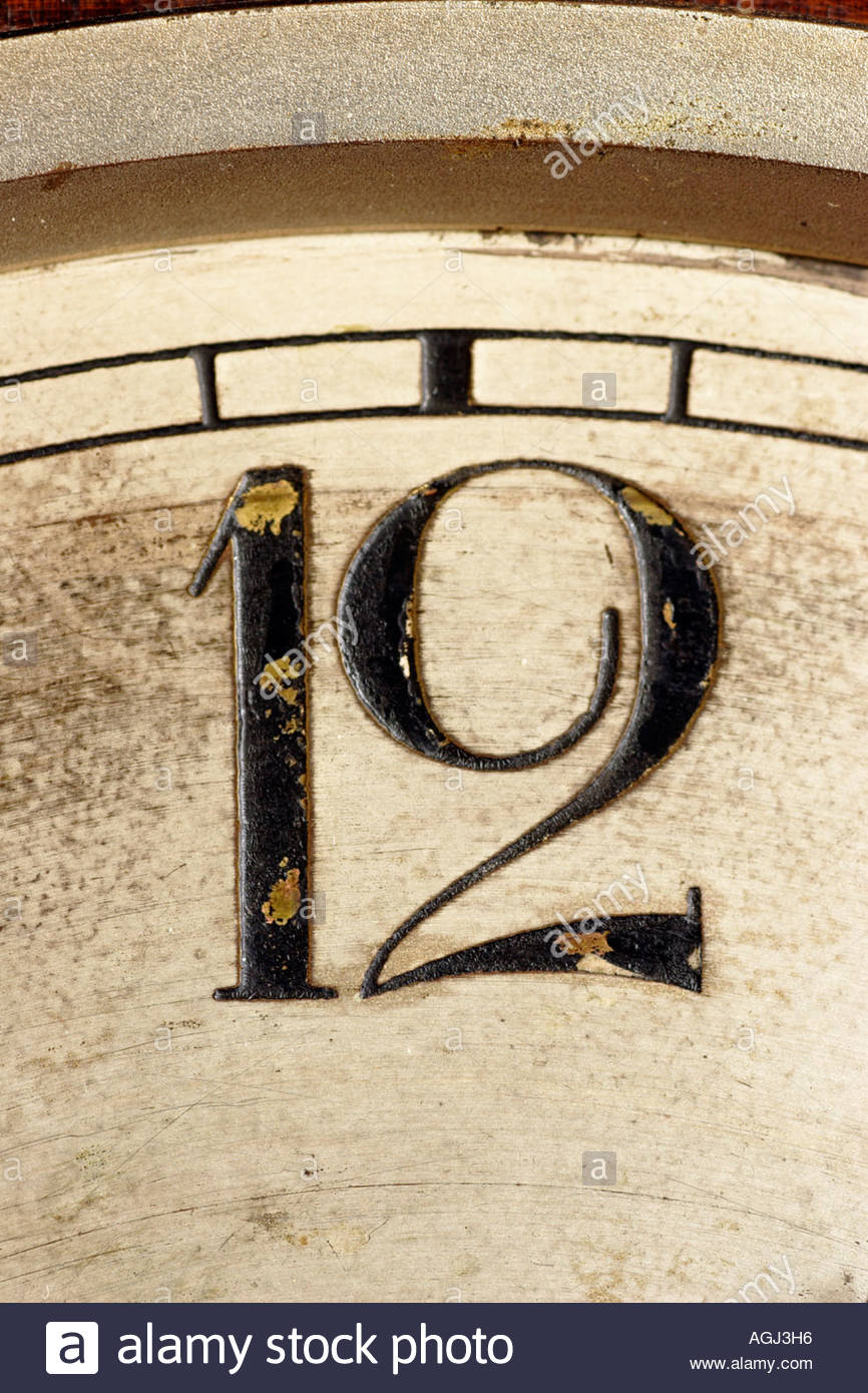 Number 12 on a clock. - Stock Image